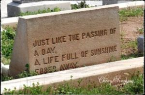 passing away